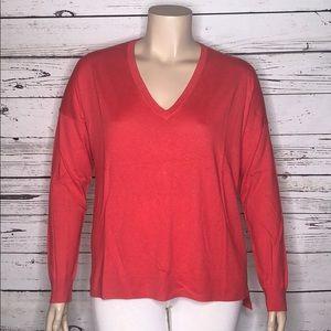 Gap NWT XL Pink High-Low Hem Silk Blend Sweater